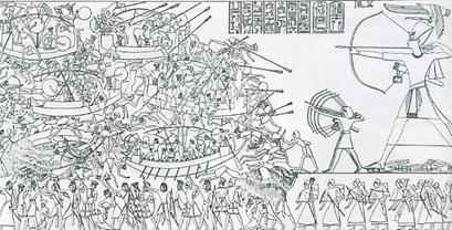 BATALLA EGIPCIOS PUEBLOS MAR