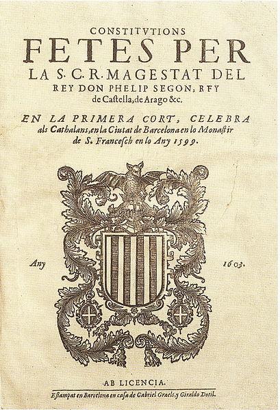 CORTES BARCELONA 1599