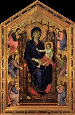 Duccio (Madonna Rucellai, 1285, Uffizi)
