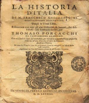 HISTORIA ITALIA GUICCIARDINI