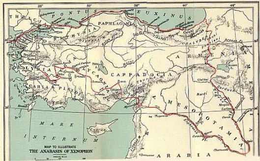 Mapa Asia menor