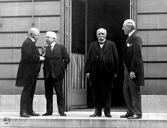 PARIS 1919 - CUATRO GRANDES CONFERENCIA PAZ